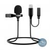 Петличный микрофон JBC-052 Lighthning & 3.5mm jack