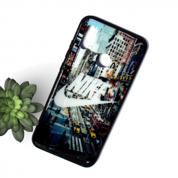Чехол GLASS PRINT - Samsung