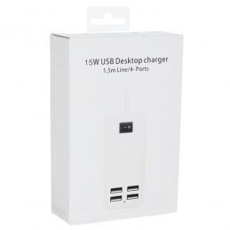 СЗУ HUB на 4 USB 1.5m/15W